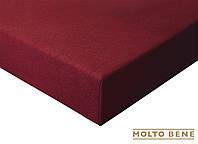 Простынь frotte 180 г. с резинкой Molto Bene 140x200+25см цвет бордовый