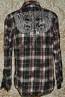 Фирменная рубашка Rock-Rebel (США) M 100% хлопок б\у