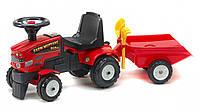 Трактор каталка с прицепом FALK FARM MUSTANG 350S лопатка грабли красный