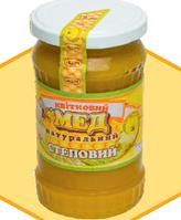 """Мед натуральний """"СТЕПОВИЙ"""" 0,4 л"""