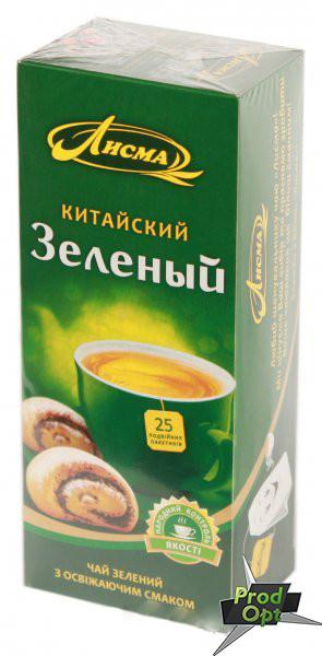 Чай Лісма зелений Китайський 25 пакетів