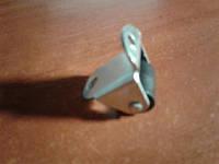 Ролик мебельный чёрный, бочонком с гнутым креплением, усиленное (Ф-15 мм)