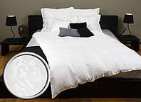 Постельное белье  шелковая 160x200 белый жаккард