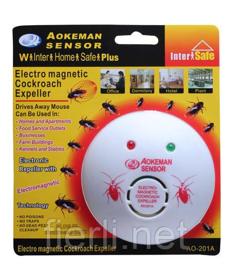 Ультразвуковой отпугиватель тараканов Electro-magnetic Cockroach Expeller AO-201A