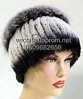 Меховые шапки из комбинированного меха песца и rex rabbit Кубанка.(м.ш)