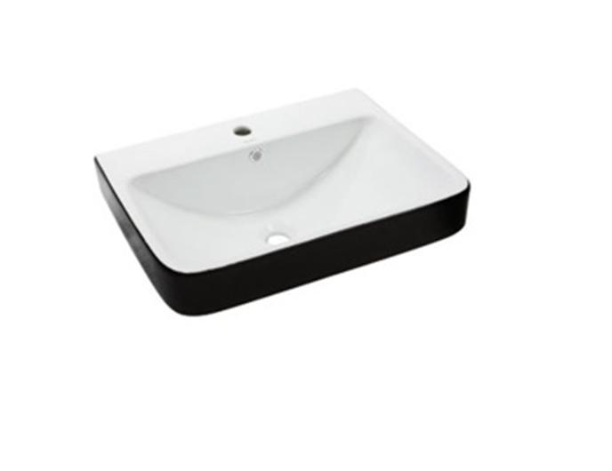 Умывальник NEWARC Countertop 60 (5014BW) черный/белый