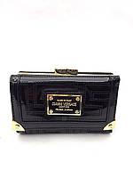 Женский кошелек Versace (V-6302) black