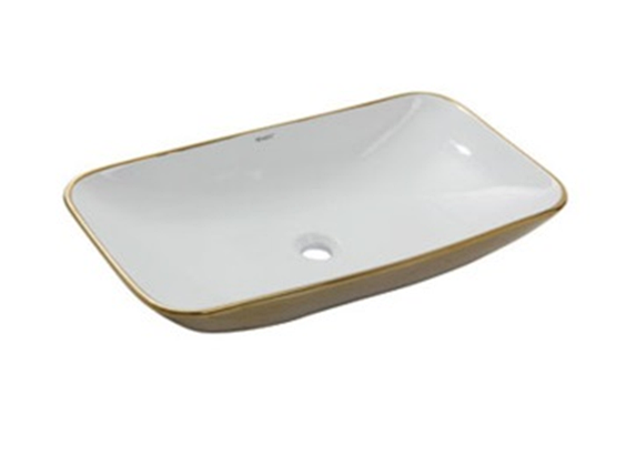 Умывальник NEWARC Countertop 70 (5019GW) золото/белый, фото 2