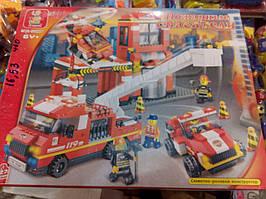 Конструктор пожарные спасатели SLUBAN М38-В0227