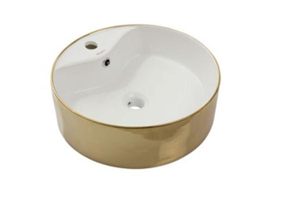 Умывальник NEWARC Countertop 47 (5017G-W) золото/белый, фото 2