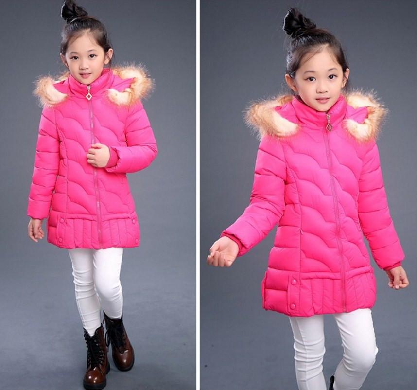 Детская красивая зимняя куртка на девочку 120