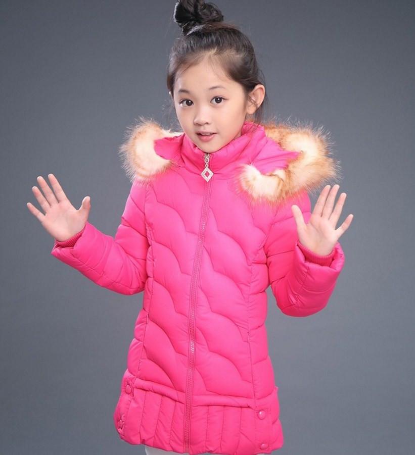Детская красивая зимняя куртка на девочку