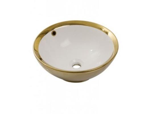 Умывальник NEWARC Newart countertop 42 (5010G-W) золото/белый, фото 2