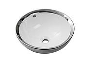 Умывальник NEWARC Newart countertop 42 (5010CR-W) серебро/белый