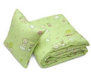 Комплект детский одеяло+подушка 40х60 в кроватку ТМ Ярослав цвета в ассортименте, фото 2