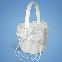 Свадебная корзинка для лепестков роз белая 0719-4