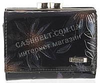 Маленький стильный лаковый женский кожаный кошелек высокого качества H.VERDE art. HV-23 15M черный