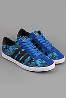 Кроссовки  Adidas.Кроссовки Adidas Gazelle синие с защитным принтом. Кроссовки для бега.
