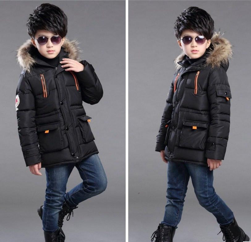 Модная зимняя куртка для мальчика