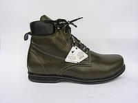 Ботинки мужские кожаные Lider Club 2060 Олива