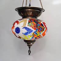 Люстра турецкая из мозаики 1 плафон диаметр 30 см Sinan-22