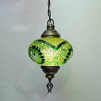 Турецкая Люстра мозаичная 1 плафон диаметр 18 см Sinan-24