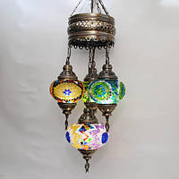 Люстра из мозаики 4 плафона Sinan-43