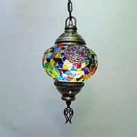 Люстра из мозаики 1 плафон 45 см Sinan-39