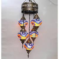 Люстра из мозаики 5 плафонов Sinan-45
