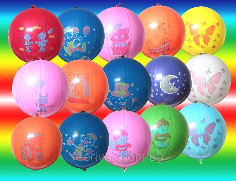 """Воздушные шары Панч - Болл 18""""(45см) ассорти пастель. В упак: 50шт."""
