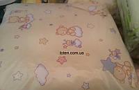 Детский постельный комплект 7 предметов Мишка на тучке