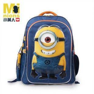 Рюкзак дитячий міньйон, шкільний ранець 40*36*14 см, унісекс, одно - або двох-глазый на вибір
