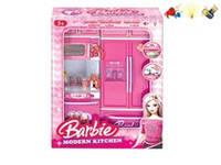 Кухня музыкальная Barbie (арт. QF26215BA), пластик,свет,музыка,батар.,27x9.5x34.5cм JAMBO 100653655