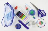 Набор швейный в прозрачном пластиковом кошельке на молнии