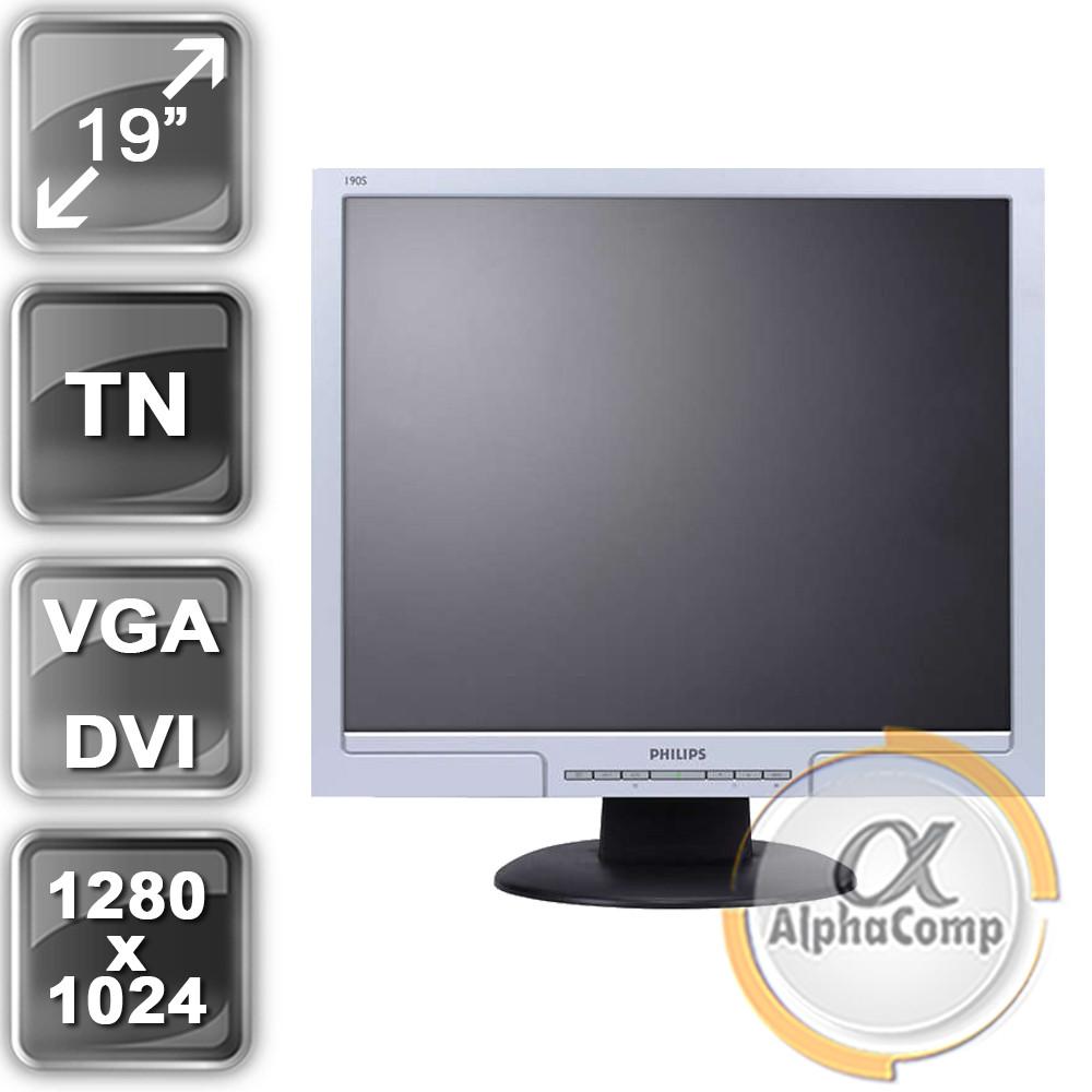 """Монитор 19"""" Philips 190S8FS/00 (5:4/VGA/DVI) class A БУ"""