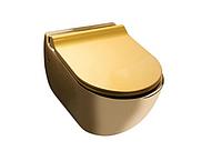 Чаша подвесного унитаза NEWARC Modern (3823G) золото