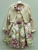 Нарядное платье + пиджак для девочек, Турция