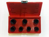 Набор спецголовок для гаек-секреток колесных 7 пр. FORCE 907U5 , фото 1
