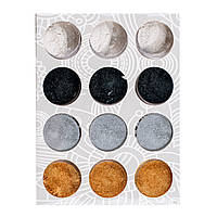 Набор песка  для втирки 4 цвета,12 шт/уп