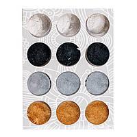 Набор песка  для втирки 4 цвета,12 шт/уп , фото 1