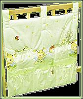 """Карман (приборник) для детской кроватки """"Пчёлки"""", 60х65 см, 100% хлопок"""