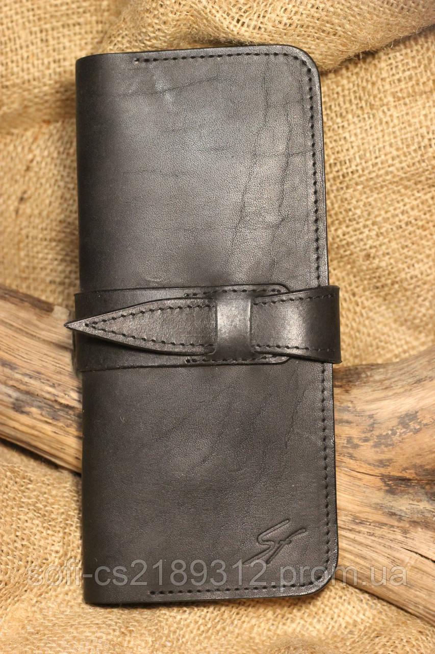 c7ca27edb58f Черный кожаный кошелек, цена 600 грн., купить в Запорожье — Prom.ua ...