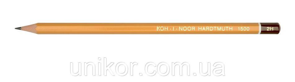 Карандаш графитный технический 1500, 2H, шестигранный. KOH-I-NOOR