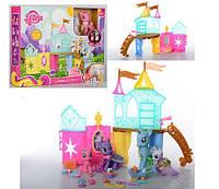 Замок для пони My Little Рony/ Литл Пони Ponyville 4 пони, свет