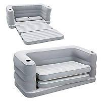 Велюровый диван-кровать 75063