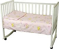 Детское постельное белье Руно Немовля Мишка-пузатик розовое (932.02_(Розовый)