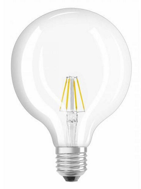 Лампа LED GLOB CL G125 60 6W 827 FIL E27 OSRAM