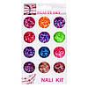Набор конфети, яркие  для дизайна ногтей, цветные 12 шт, №2