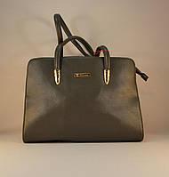 Серая женская классическая сумочка 75096