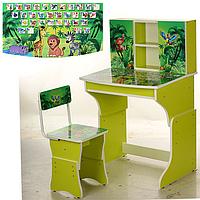 Детская парта со стульчиком МV-903-7, зеленая
